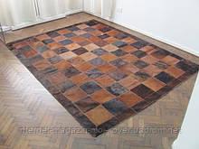 Шикарний килим з коричневої шкіри корови