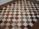 Ковры из шкур шахматы коричнево белые, фото 2