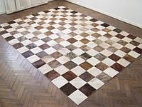 Ковры из шкур шахматы коричнево белые, фото 1