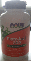 Тесто Джек, Now Foods, TestoJack 200, (120vcaps)