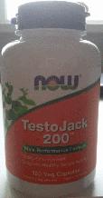 , Now Foods, TestoJack 200, (120vcaps)