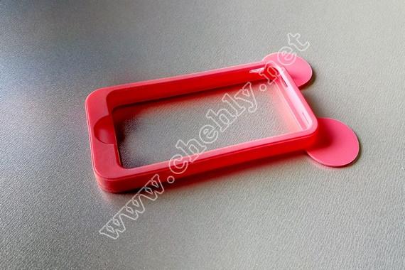 Силиконовый чехол с ушками  iPhone 4/ 4s