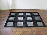 Килим з шкури сірий з чорною окантовкою, фото 3