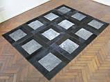 Килим з шкури сірий з чорною окантовкою, фото 2