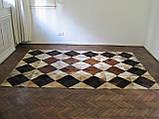 Шикарний килим з шкури ромби, фото 3