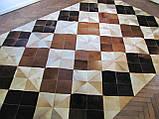 Шикарний килим з шкури ромби, фото 2