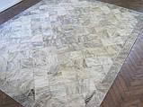 Красивий килим для заміського будинку з натуральної шкіри корови сірого тигрового кольору, фото 2