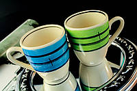 """Чашка """"Европа"""" широкая полоса, в ассортименте"""