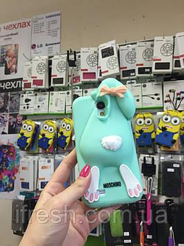 Чехол заяц Moschino для Samsung S4 i9500, ментоловый