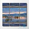 Модульная картина Большое озеро из 3 фрагментов