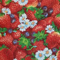 Ткань полотенечная вафельная набивная (ИВ) арт.128026 рис.415  Ш.150СМ