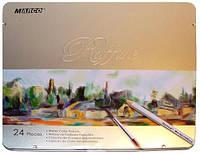 Карандаши акварельные Marco Raffine 24 цвета в металле, фото 1