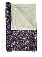 Меховое одеяло полуторное, Шоколадный орнамент (155х215 см.)