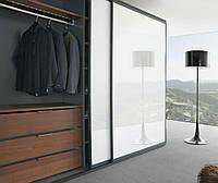 Шкаф купе на заказ Premium стекло Lacobel  9003