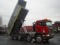 Установка гидравлики на тягач Scania