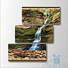 Модульная картина Водопад в горах из 3 модулей