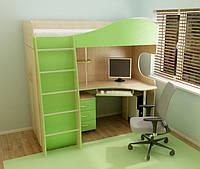 """Кровать Чердак с столом и шкафом  """"Глория"""""""