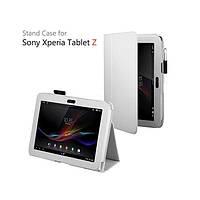 Белый чехол на Sony Xperia Tablet Z из синтетической кожи.