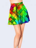 Юбка-Клеш Цветные Кубики