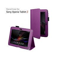Фиолетовый чехол на Sony Xperia Tablet Z из синтетической кожи.