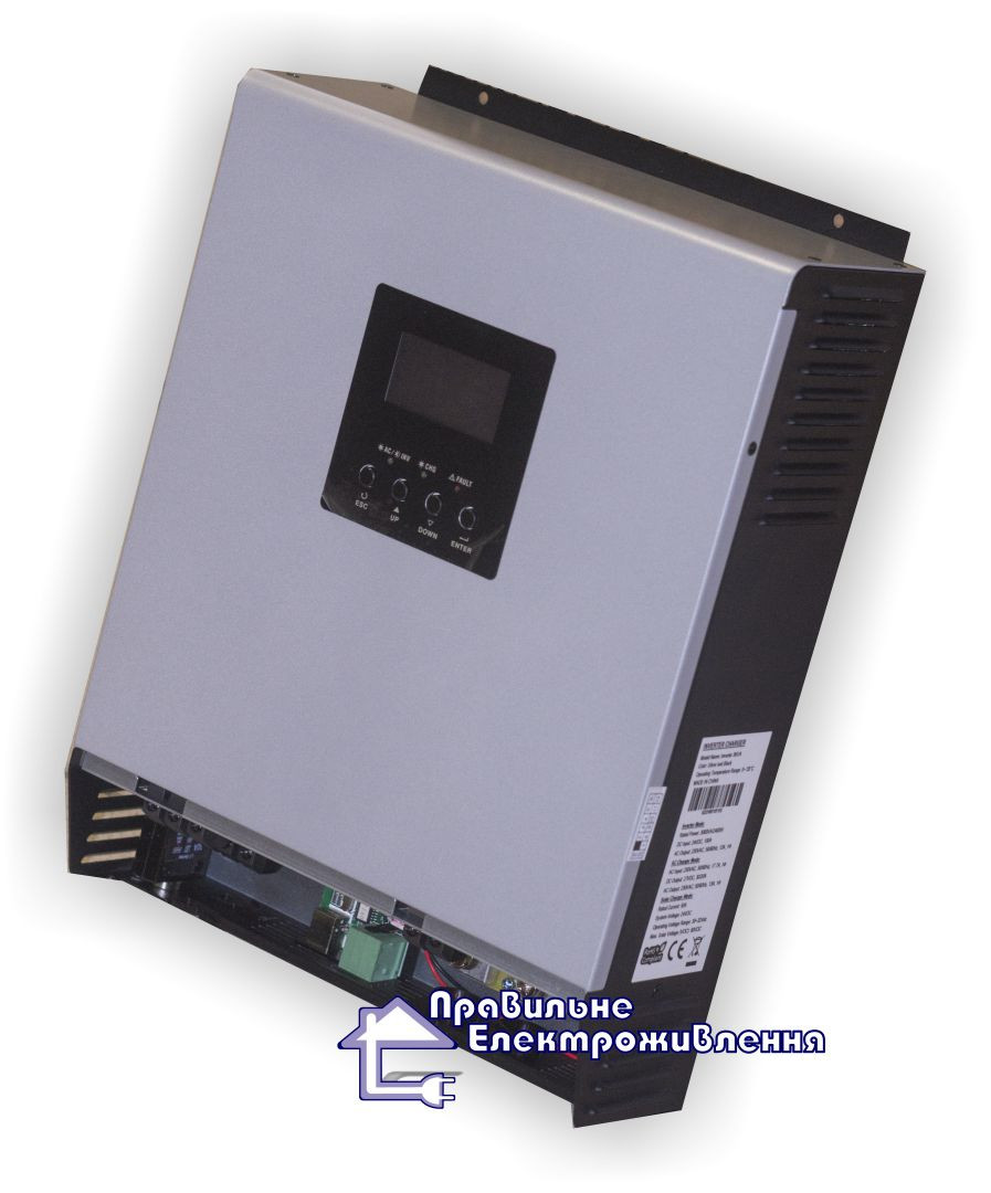 Гібридний ДБЖ 5000ВА, 48В + МППТ контролер 80А, Axpert MKS 5К-48