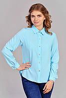 Женская блуза с рубашечным воротником