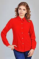 Женская блуза с удлиненной задней спинкой