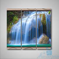 Модульная картина Триптих Водопад из 3 частей, фото 1