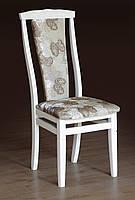 Белый обеденный,мягкий стул из бука Чумак-2, Слоновая кость