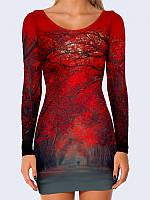 Платье Красные Деревья