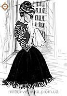 """Схема для вышивки бисером """"Французский шик"""""""
