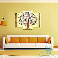 Модульная картина Дерево из 3 фрагментов (93х70), фото 1
