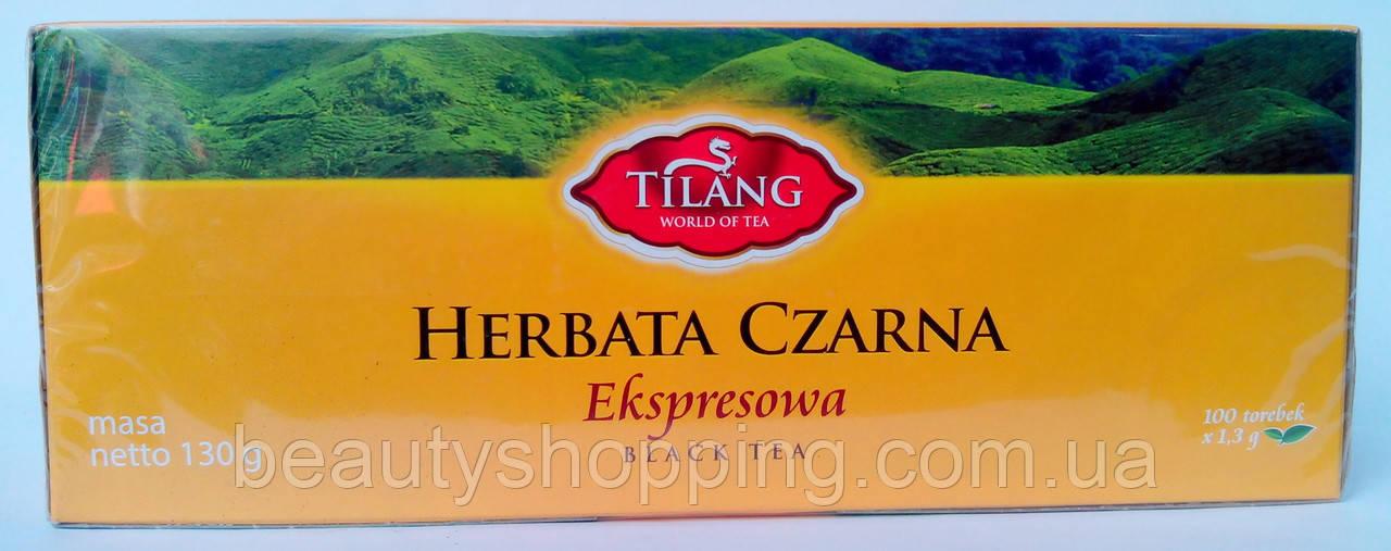 Чай чёрный пакетированный Tilang 100 шт 130 г.