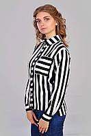 Красивая рубашка черно-белого цвета