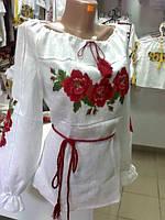 Біла вишиванка Ружа 2044