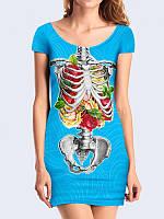 Платье Скелет С Розами