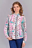 Нарядная женская блуза с удлиненной спинкой