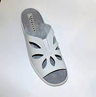 Тапочки медицинские  белые  с открытым носком летние, фото 1