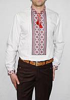 Чоловіча вишиванка біла 1072