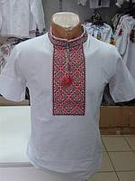 Чоловіча футболка вишиванка Червоний візерунок