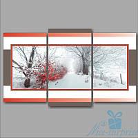 Модульная картина Триптих Зима из 3 фрагментов