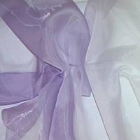 Тюль Микровуаль с переходом белого в сирень + высококачественный пошив