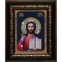 Икона  со стразами Христос Спаситель