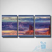 Модульная картина Триптих Каньон из 3 фрагментов