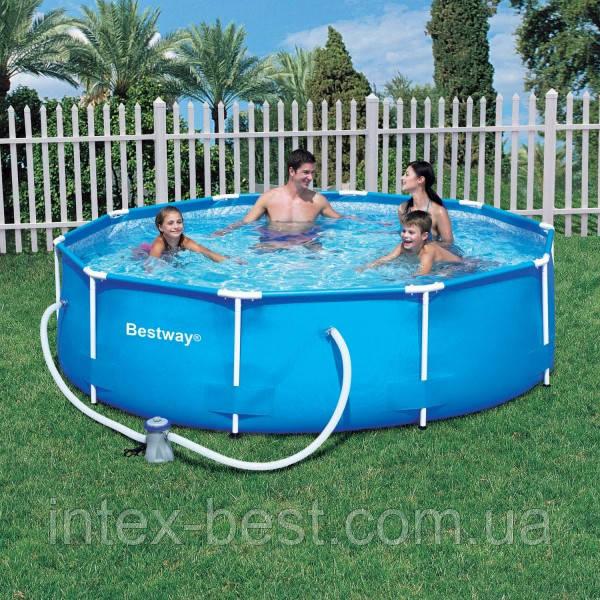 Bestway 56260 - (круглый) каркасный бассейн Steel Pro Frame 366x100 см