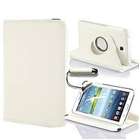 Белый чехол для Galaxy Tab 3 7.0 SM-T2100  на поворотном кольце