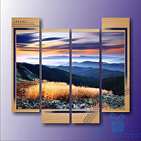 Модульнакая картина Красочнае небо из 4 фрагментов, фото 1