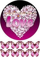 Любовь 141 Вафельная картинка