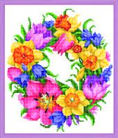 Схема для вышивания бисером на авторской канве цветы