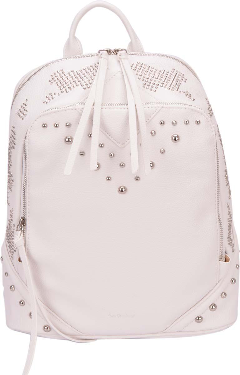Молодежная сумка-рюкзак Yes Weekend, белая